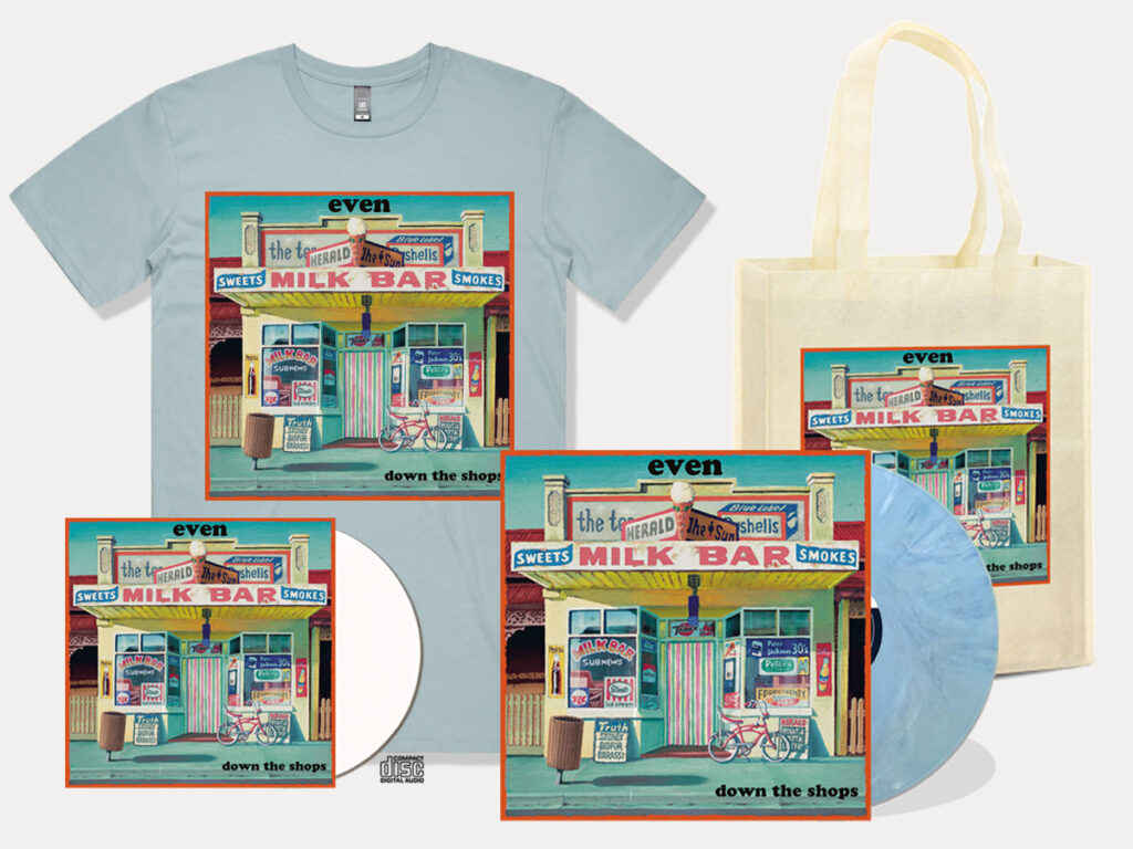 Even - Down the Shops - pastel blue merch