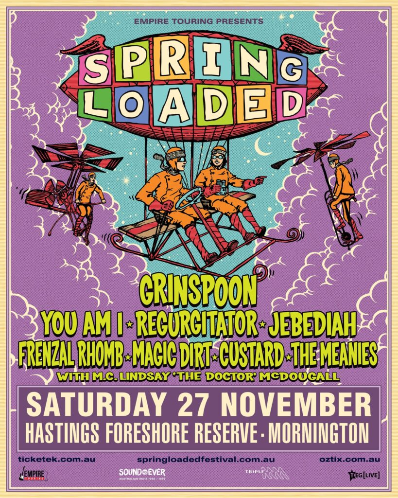 The Meanies at Spring Loaded at Hastings Foreshore VIC
