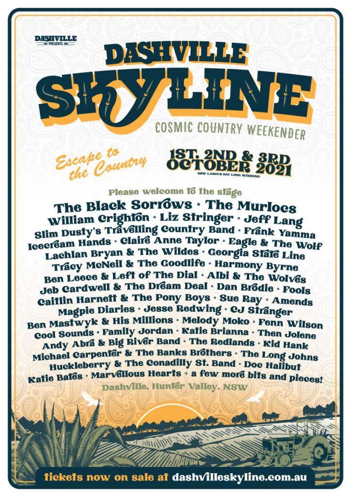 Dashville Skyline poster full line-up